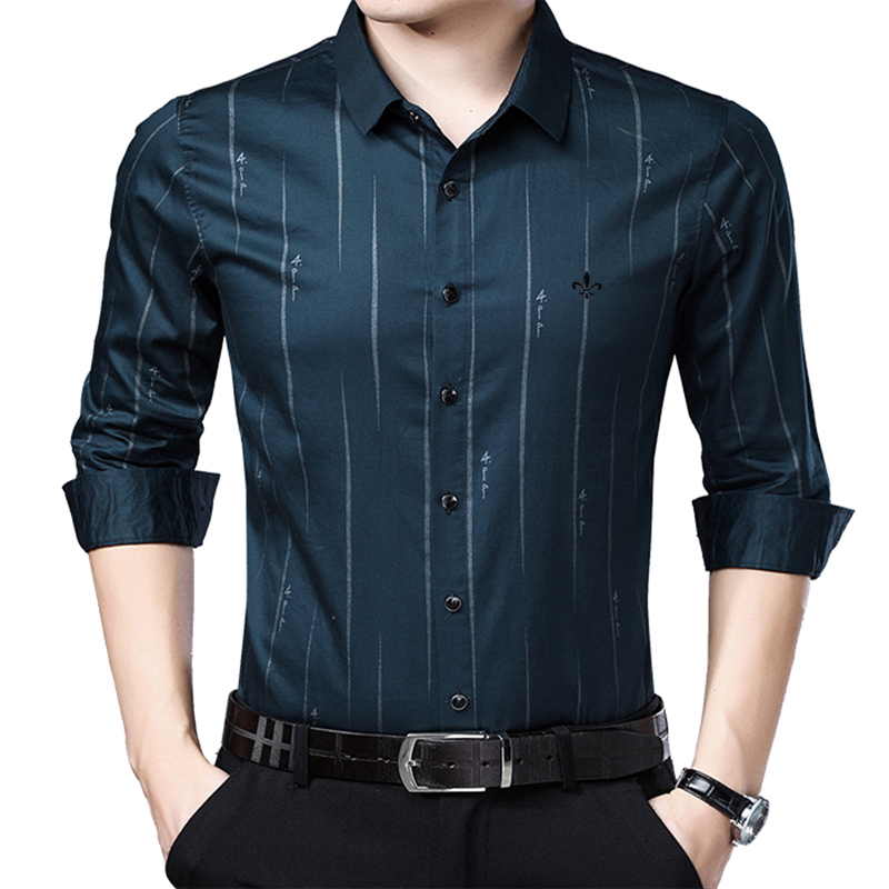 Image 3 - Dudalina Me Shirt 2019 Men's Striped Dress Shirts Male High Quality Long Sleeve Slim Fit Business Casual Shirt Camisa-in Casual Shirts from Men's Clothing