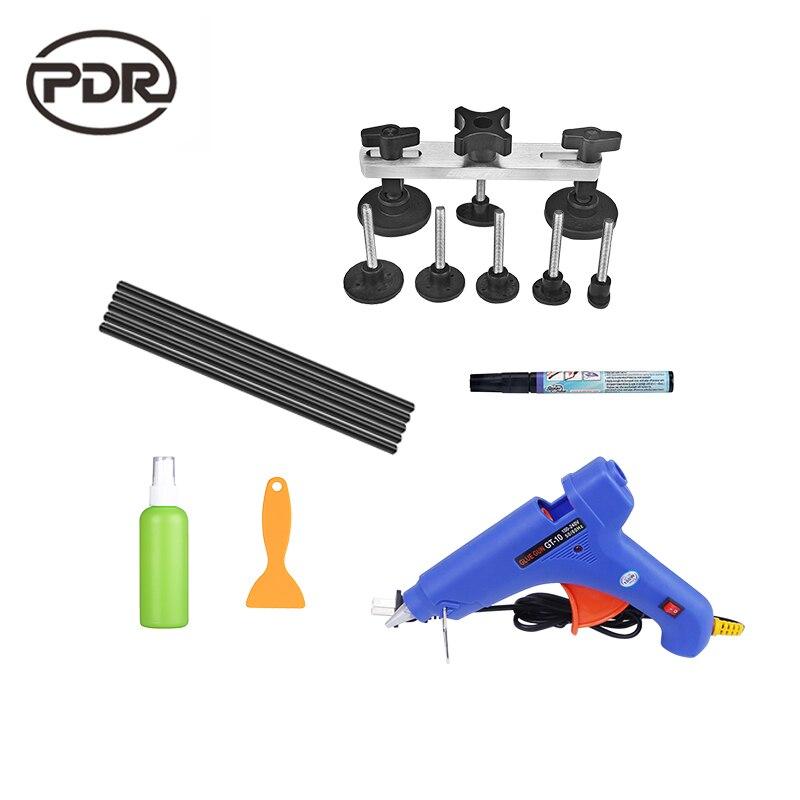 PDR DIY Tools Paintless Dent Repair Auto Tools Car Body Repair Kit Dent Puller Kit 220 v Glue Gun Pulling Bridge Adhesive Glue  цены