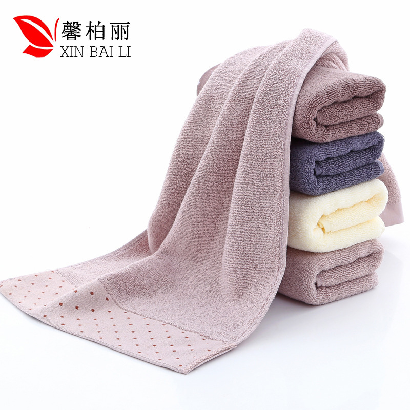 Image 4 - Quality, environmental  health, pure cotton, simple pure color towel, thickened washcloth, gift towel, customized LOGO wholesale-in Storage Bags from Home & Garden
