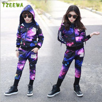 Spring Children Clothing Sets Sport Suit Tracksuit For Girls Clothes Suits Kids Coats Jackets Costume For