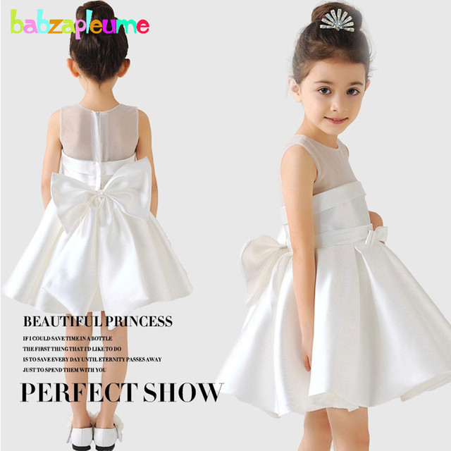 314560021064 2-8Years Summer Style Baby Girls Dresses Lace Princess Kids Costume  Sleeveless White Red