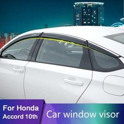 Für Honda Accord 2018 2019 Auto Sonnenblende Fenster Visier Regen Schatten für Auto Fenster Kunststoff Visier Zubehör
