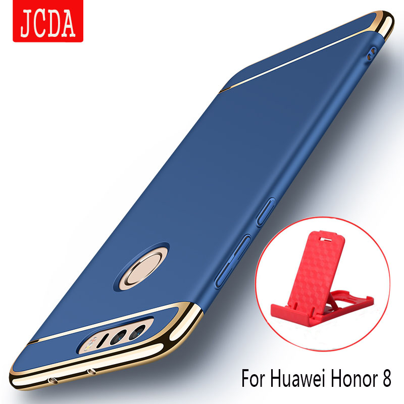 For Huawei Honor 8 Case JCDA Original Luxury Plating Anti-Knock 3in1 hard Plastic Phone Protective Case for Huawei Honor 8 5.2