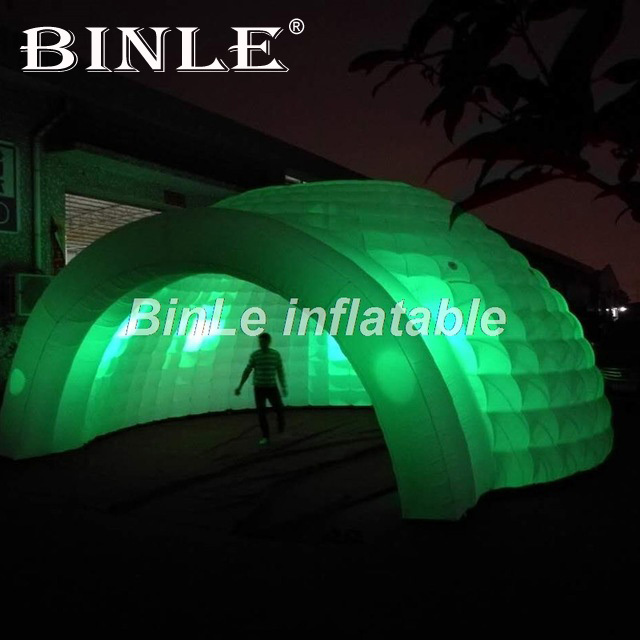Top quality outdoor giant inflatable dome tent with LED large inflatable party tent wedding marquee wider entrance