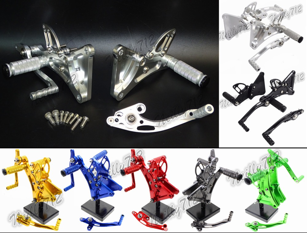 waase CNC Adjustable Rider Rear Sets Rearset Footrest Foot Rest Pegs For Buell XB9R XB9S XB12R XB12S waase moto cnc aluminium adjustable rider rear sets rearset footrest foot rest pegs for kawasaki z750 z750s 2004 2005 2006