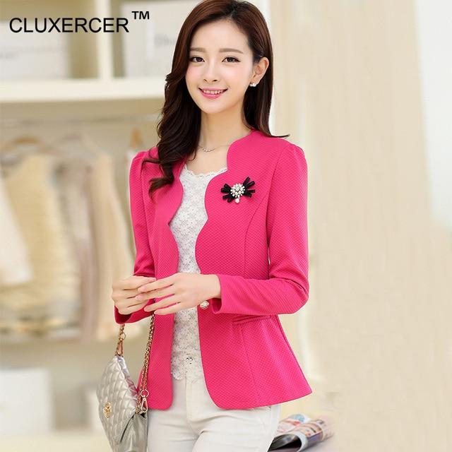 c3e981ccc9d8f Cluxercer marca Chaquetas mujeres oficina trabajo ropa casual mujeres  primavera Chaquetas Tops chaqueta mujer Oficina jaqueta