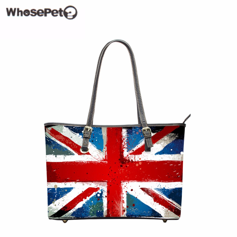 WHOSEPET US Flags Printing Women's Shoulder Bags High Quality Girls Handbag Lady Top-Handle Bag Luxury Handbags Women Bags New page flags green 50 flags dispenser 2 dispensers pack