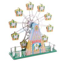 Vintage Luxury Musical Ferris Wheel Model Wind up Clockwork Tin Toy Collectibles Classic Handmade Crafts