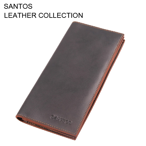 Santos Free Shipping + Soft Cow Leather Wallet + Leather Passport Wallet+ Wallet Card Holder SAQBL009-H