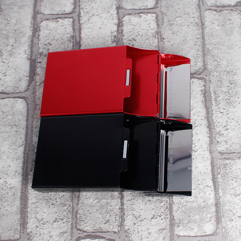 Woman Creative Ladies Cigarette Case Aluminum Cigarette Pack 20 Sticks Stainless Steel Smoking Accessories Cigarette Box E
