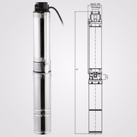 150ft 0.5hp Deep Well Pump Submersible 25GPM Stainless Steel Underwater Bore Long Life submersible pump remarkable performance