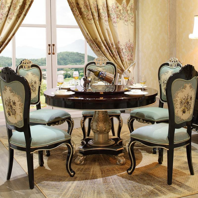 Us 1883 0 Luxury Foshan New Model Wooden Round Dining Table Prices In Bedroom Sets From Furniture On Aliexpress