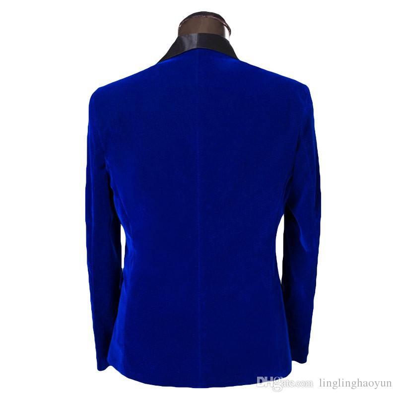 Conception Manteau Pour Marque De Blazer rouge Rouge Mariage Hommes Bleu Marié Costume Nouveau 2016 Dernières Pantalon Bleu Costumes Bal Smokings Mode Slim Fit Le xFIISw