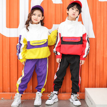 e71d54309bb1 Woman Man Boys Girls Hip Hop Costumes Kids Hiphop Jazz Street Dancewear  Clothes Dancing Suit for