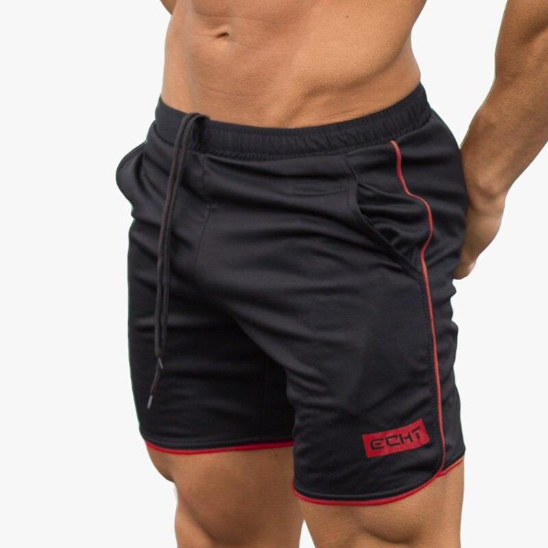 Summer Mens Gym Fitness Shorts Bodybuilding Jogging Workout Male 2017 Brand Short Pants Knee Length Breathable Mesh Sweatpants