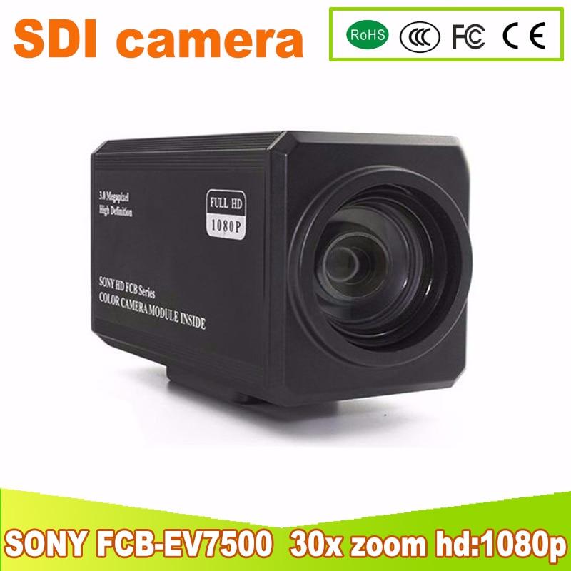 Yunsye envío gratis SONY SDI FCB-EV7500 HD Color bloque de cámara de Video cámara 30x zoom hf 1080 p 2mp