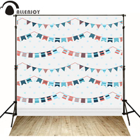 Allenjoy写真背景旗ドット木材スプライス白い赤ちゃんハッピーバースデービニールバックドロップのため販売photocall
