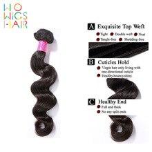 WoWigs Hair Brazilian Virgin Hair Loose Wave 4Pcs Lot, Unprocessed Brazilian Virgin Human Hair Extensions Wholesale