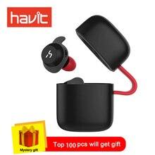 HAVIT СПЦ Bluetooth наушники True Беспроводной спортивные наушники Водонепроницаемый стерео наушники С микрофоном для громкой связи звонки G1