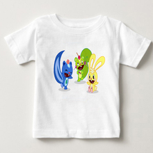 boy and girl summer t shirt HAPPY TREE FRIENDS T Shirt 2-15Y children T shirt Pure cotton T - shirt White short sleeves tshirt M british style old tree and single wolf pattern t shirt for men m