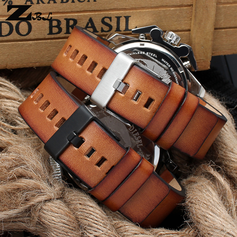 Genuine Leather Bracelet For Diesel DZ4343 Watch Strap Brown Watchband 22 24 26mm Wrist Watch Band Retro Wristwatches Band