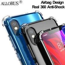 ALLORUS Real Anti-Shock Case Xiaomi Redmi K20 Pro Note 7 5 Go Phone Cover Mi A2 lite 9 SE Silicone TPU