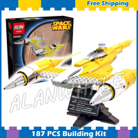 187pcs Space Wars Ultimate Collectors Naboo Starfighter Chrome Element 05060 Model Building Blocks Set Game Compatible