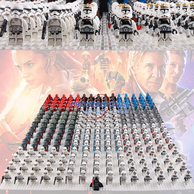21pcs/lot Star Wars White Clone Yellow Utapau Trooper Army Darth Vader with Weapons Red Lightsaber Building Blocks Bricks Toys подвесной светильник crystal lux lux sp1 c smoke