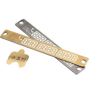 Image 5 - 1 adet aydınlık telefon numarası bildirimi araba geçici park kartı Suckers gece araba Sticker İç otomatik ürünleri aksesuarları