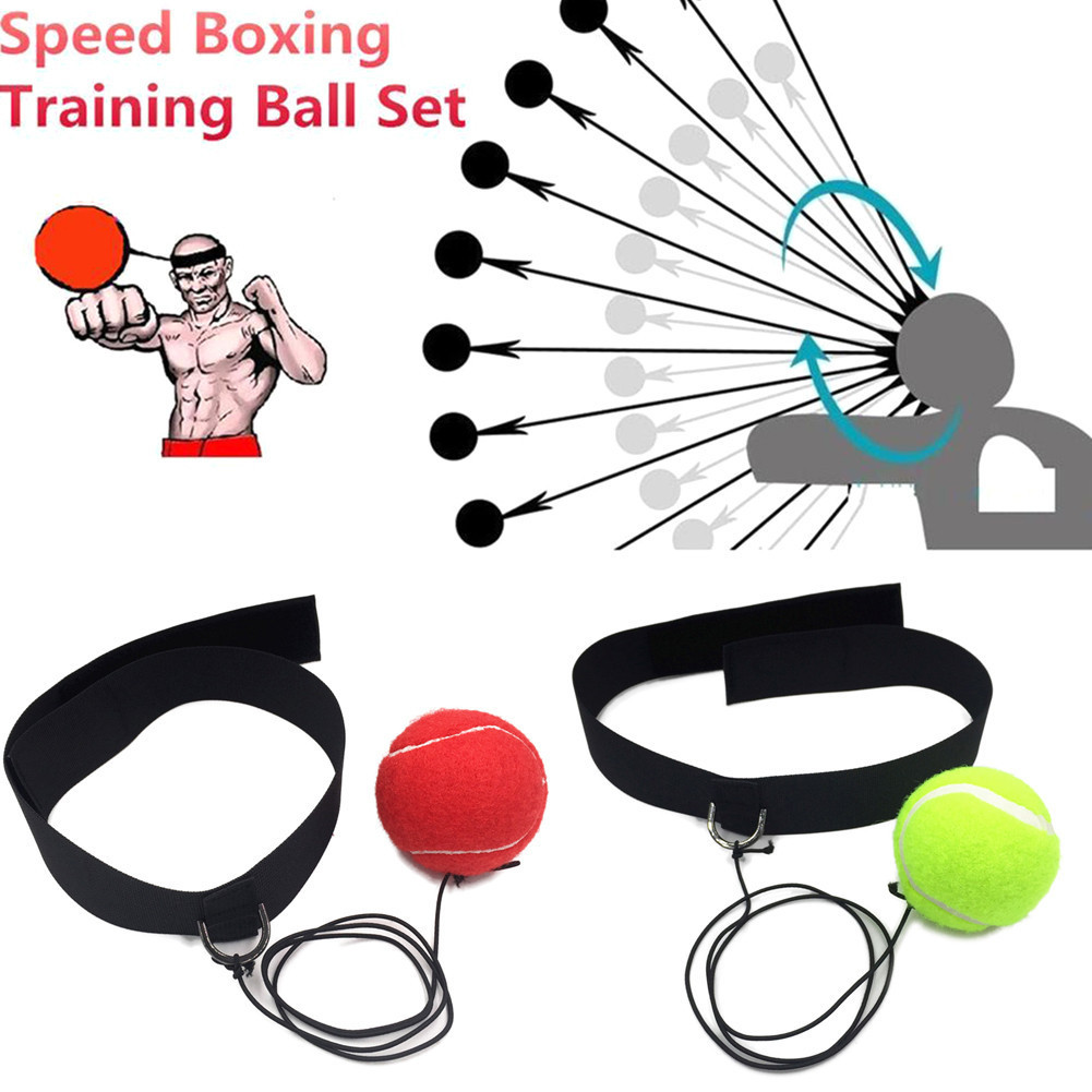 все цены на Boxing Fight Ball Tennis Ball with Head Band for Reflex Reaction Speed Training in Boxing Punching