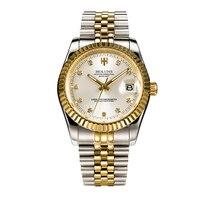 Holuns יהלומי זהב mens שעוני יוקרה מותג עליון שעונים קלאסיים Mens תפקיד שעון נירוסטה זוהרת שעוני יד גברים שעון