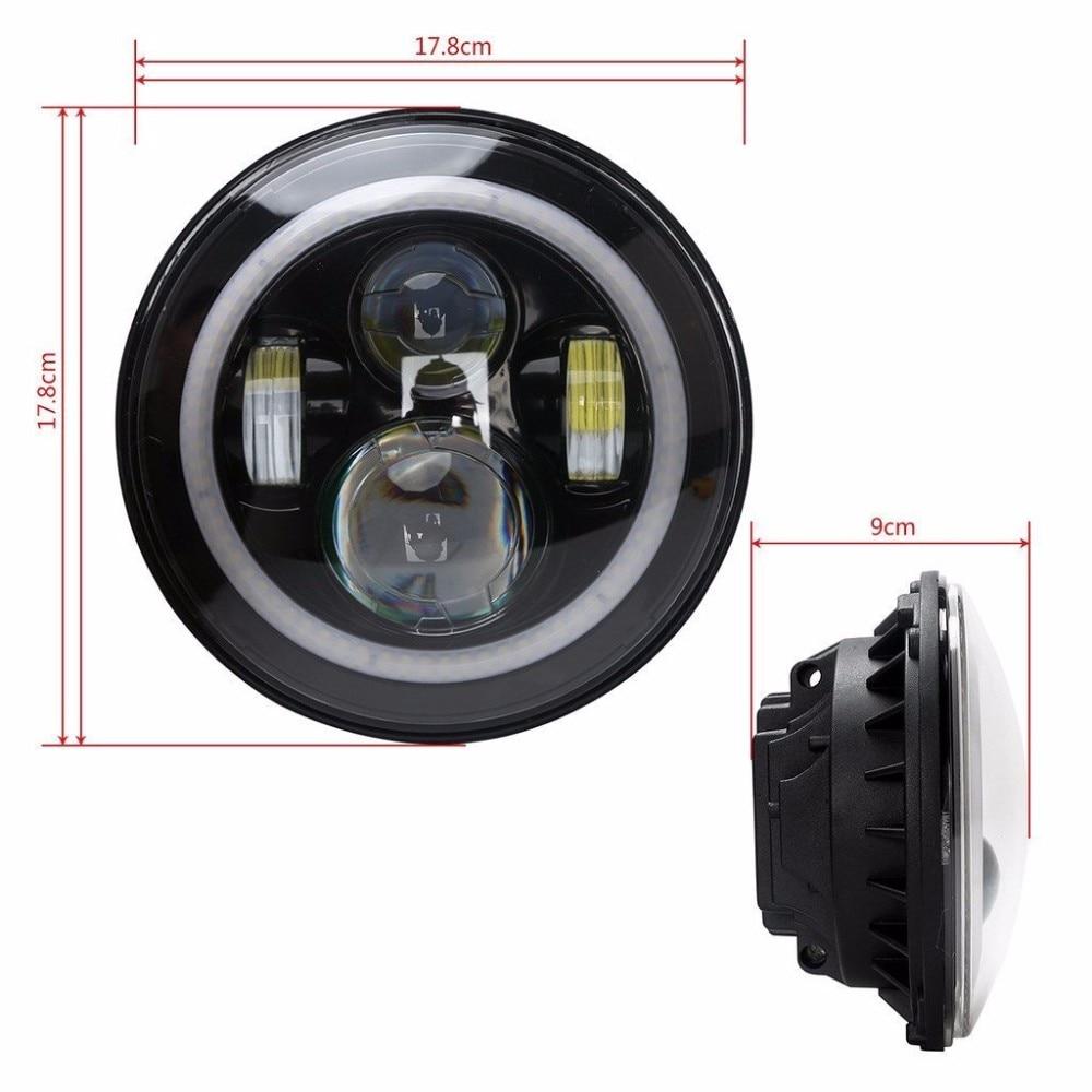2PCS Λευκό με λευκό 7 '' LED προβολέα H4 Hi / Lo - Φώτα αυτοκινήτων - Φωτογραφία 2