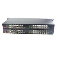 ממירי מדיה 32 BNC 32 CH וידאו סיב אופטי מצב יחיד 20Km משדר מקלט עבור מערכת מעקב במעגל סגור