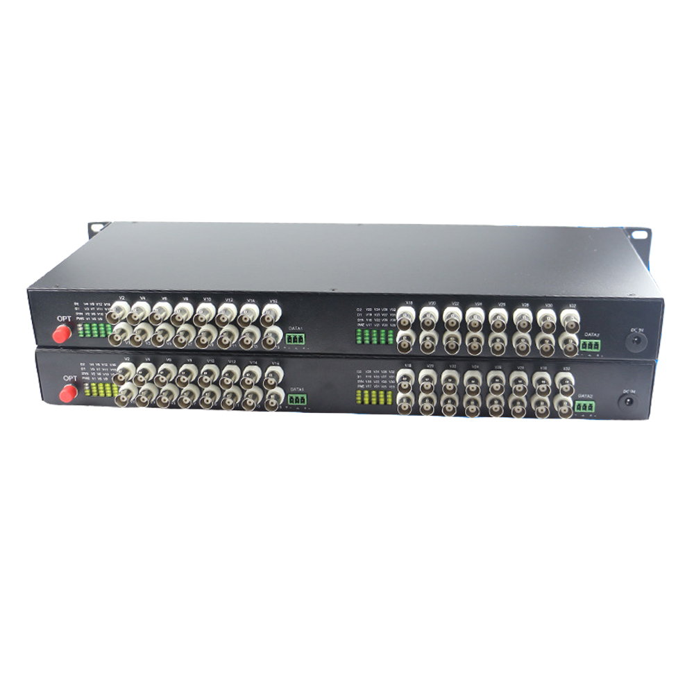 32 CH Video Fiber Optical Media Converters -32 BNC Transmitter Receiver Single mode 20Km For CCTV Surveillance system