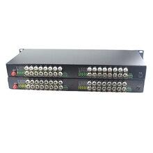 Convertisseurs de médias optiques de Fiber vidéo de 32 CH 32 BNC émetteur récepteur monomode 20Km pour le système de Surveillance de télévision en circuit fermé
