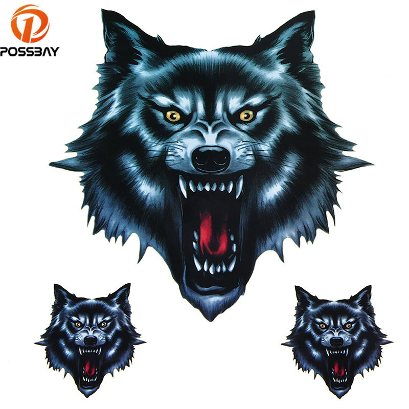 Vinyl Wolf Head Decals Skull Head Fire Flame Funny Self-adhesive Sticker for Motorcycle Car Door Stickers Truck Helmet Decor шина sava eskimo hp 205 65 r15 94h зима н ш