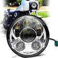 E9 DOT Y SAE aprobados 5-3/4 Pulgadas 45 W Daymaker Proyector LED Faro para Harley Davidson