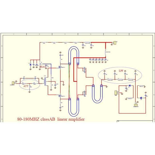 100W FM VHF 80Mhz 170Mhz RF Power Amplifier Board AMP DIY KITS For Ham Radio Pre Amp Schematic Diagram on ham radio circuits, ham radios for beginners, ham radio block diagram, ham receiver schematic,