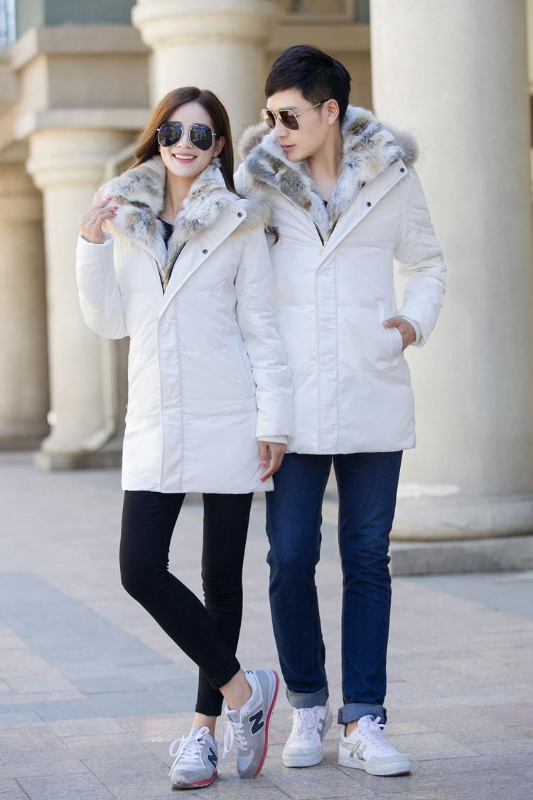 Winter Down Jacket Men Fur Parka Fashion Casual Thicken Warm Fur collar Hooded Men Women jacket&coat couple Down Jacket S-5XL (25)