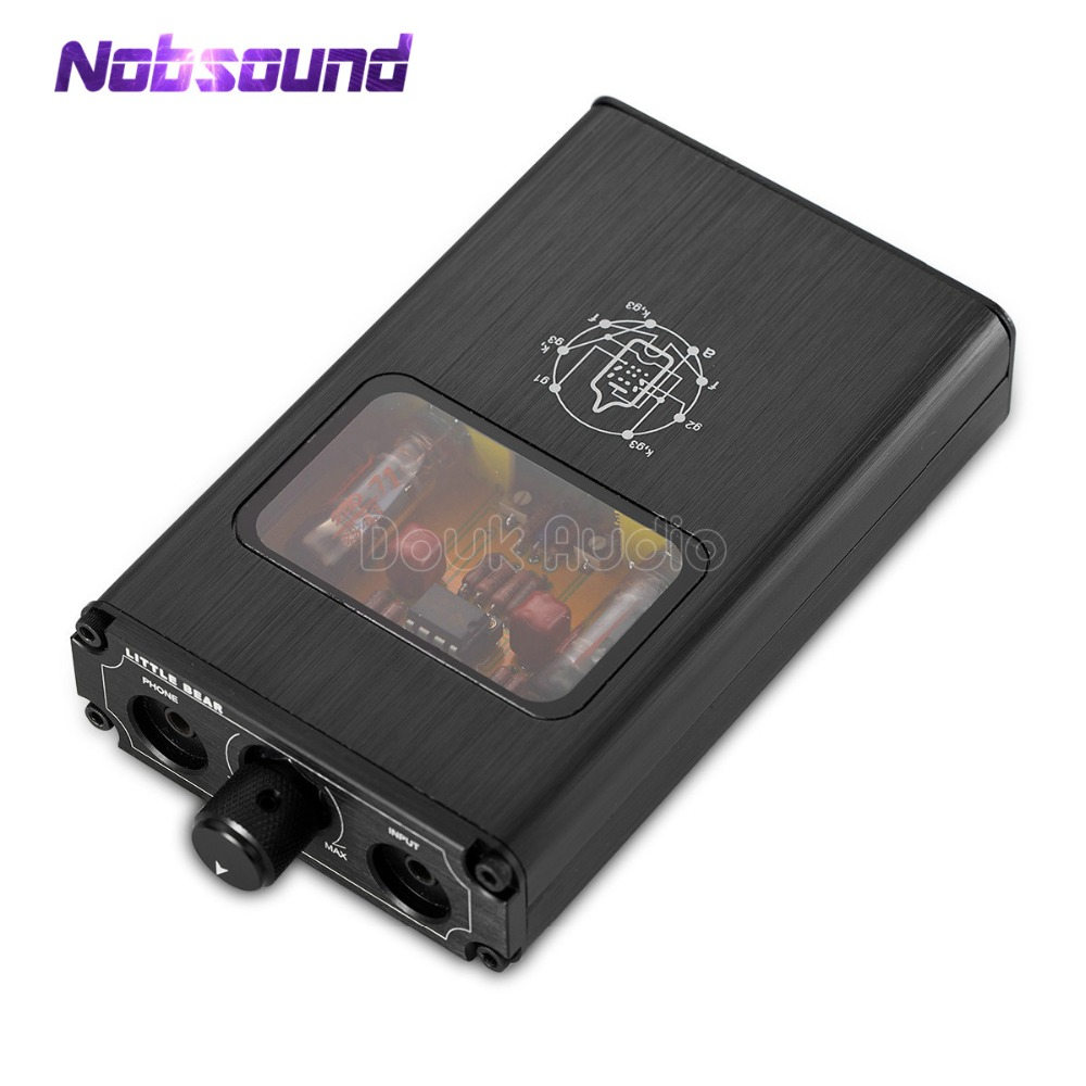 2018 Nobsound Little bear B4 Mini Portable Stereo Vacuum Tube Headphone Amp HiFi Rechargeable Amplifier