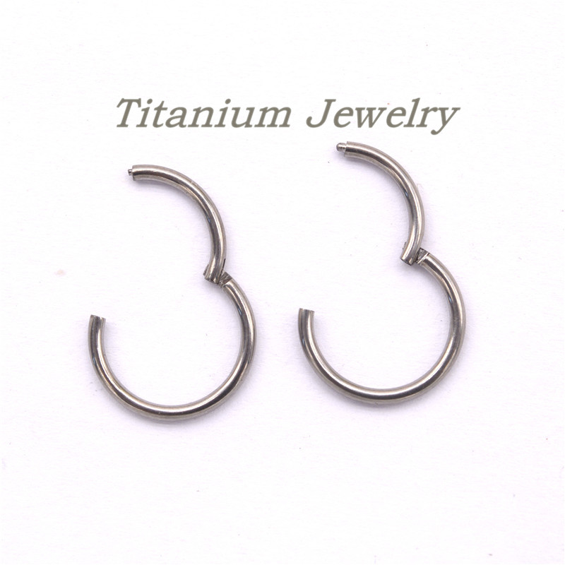 Hinged Segment Small Hoop Earrings for Men Women Open