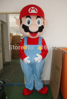 2017 High quality super Mario and Luigi Mascot Costume Adult Size free shipping