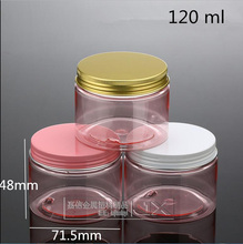 30 pcs  Free Shipping 120 150 200 g/ml Empty Transparent Pink Plastic Bottles A Butter women Cream Sample Packaging Containers free shipping european milk thistle 120 pcs