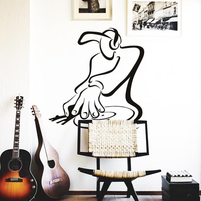 diseño de arte barato decoración del hogar pvc dj de la música