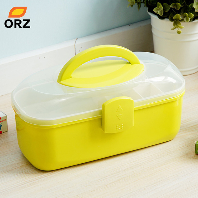 ORZ Multi Layered Family Medicine PP Medical Box Medical First Aid Storage  Box Storage Medical