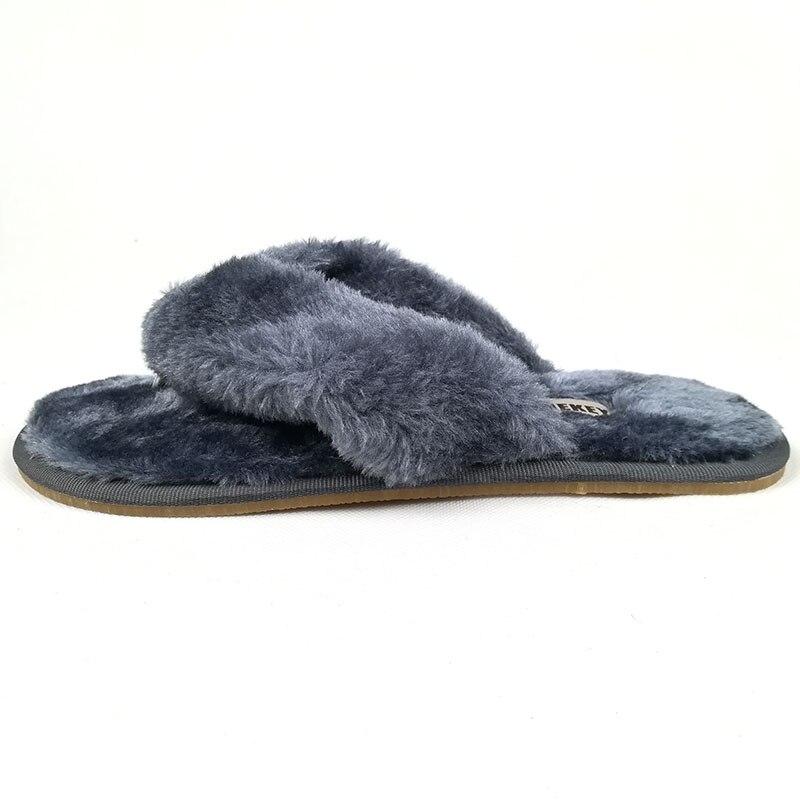 FAYUEKEY 2020 New Fashion Spring Summer Winter Home Cotton Plush Slippers Women Floor Flip Flops Zapatos De Mujer Flat Shoes 1