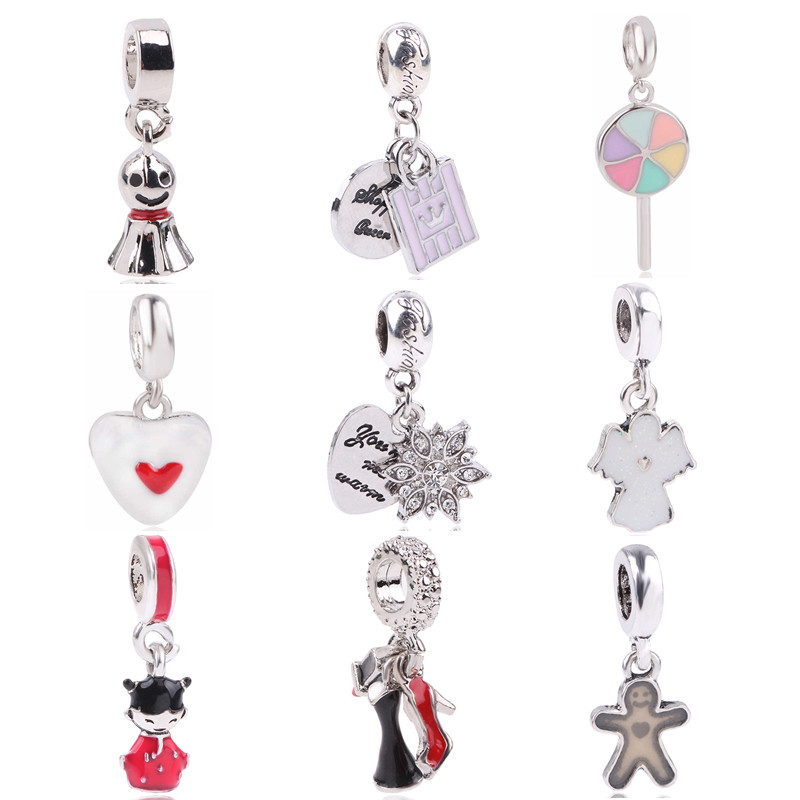 Aifeili Crown Pendant With Angel Doll Snowflake Silver Alloy Beads Charms For Pandora Bracelets & Bangles Necklace Diy Jewelry Beads & Jewelry Making Jewelry & Accessories