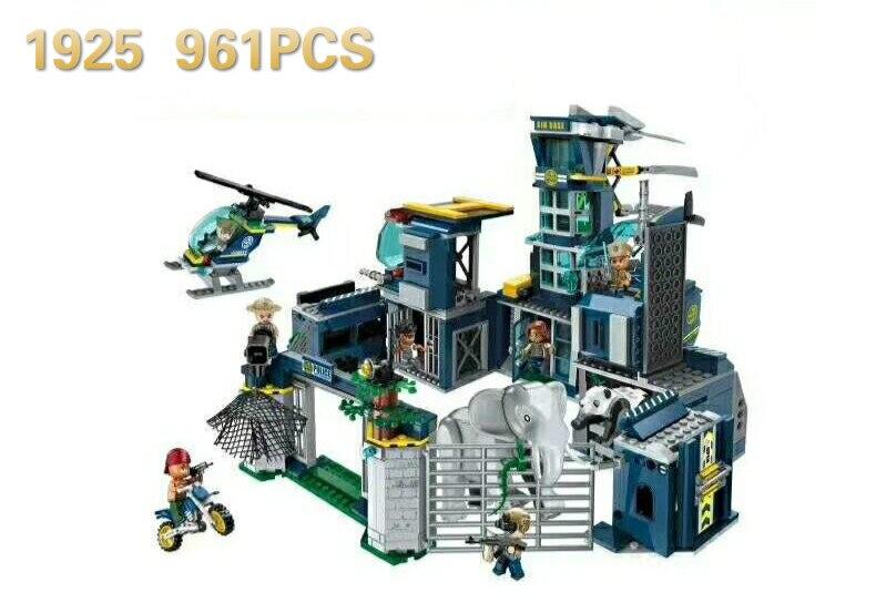 1925 961pcs Police Headquarters Constructor Model Kit Blocks Compatible sluban Bricks Toys for Boys Girls Children