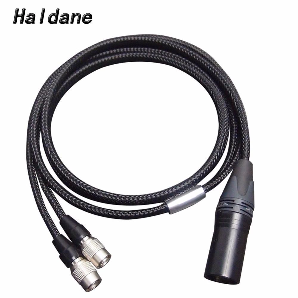 Free Shipping Haldane 4-pin XLR Balanced Headphone Headset Upgrade Cable for Mr Speakers Ether Alpha Dog Earphones