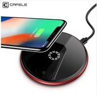 Wireless Charger Qi Certified Fast Charge Cafele Acrylic Aluminum Alloy For IPhone X Samsung Note 8